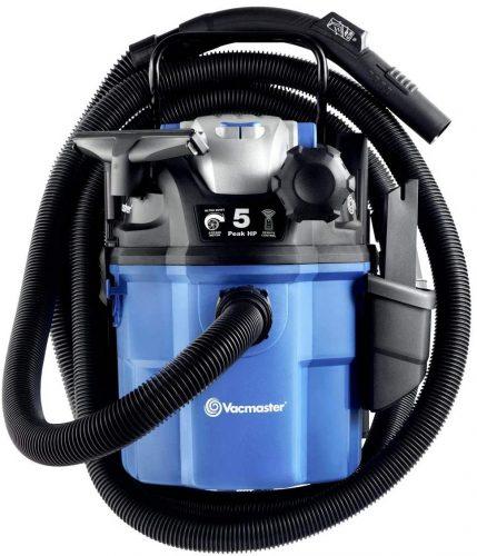 Vacmaster VWM510 5-Gallon 5 Peak HP Remote Control Wall Mount Wet/Dry Shop Vacuum