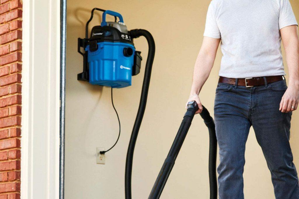 Vacmaster VWM510 Wall Mount Wet Dry Shop Vacuum
